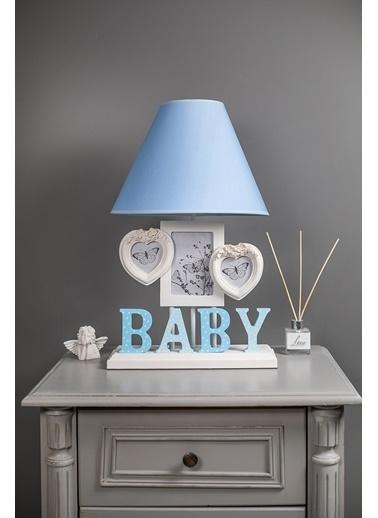 Misto Home Çerçeveli Abajur Baby Mavi